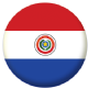 Paraguay Country Flag 58mm Button Badge